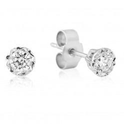 9ct White Gold Illusion Set Diamond 0.20ct Stud Earrings 5327E/9W/DQ1020