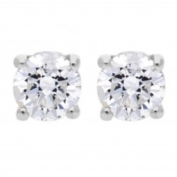 9ct White Gold 0.20ct Single Stone Diamond Earrings SKE2534-20