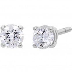 9ct White Gold 0.20ct Single Stone Diamond Earrings SKE2534-20