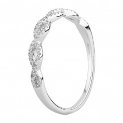 9ct White Gold 0.15ct Diamond Pave Open Wave Ring SKR23187-15