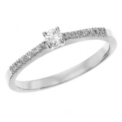 Platinum 0.17ct Diamond Set Shoulder Ring PAR42 M