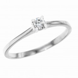 Platinum 0.14ct Solitaire Diamond Ring PAR1 M
