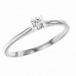 Platinum 0.14ct Solitaire Diamond Ring PAR1 M