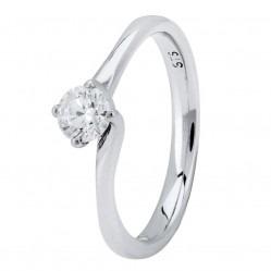 Platinum Four Claw Petite-Trellis Twist Diamond Solitaire Ring (min 0.33ct) CR11068/PT950.33CT L