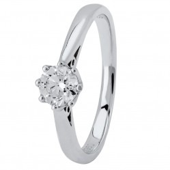 Platinum Eight Claw Cathedral-Set Diamond Solitaire Ring (min 0.50ct) CR11065/PT950/.50CT