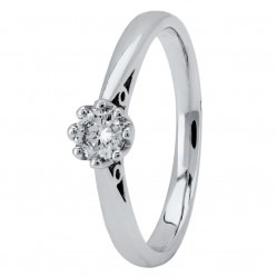 Platinum Eight Claw Cathedral-Set Diamond Solitaire Ring (min 0.20ct) CR11065/PT950/.20CT L