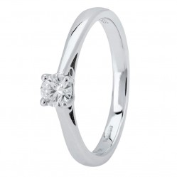 Platinum Four Claw Basket-Set Diamond Solitaire Ring (min 0.20ct) CR11066/PT950.20CT