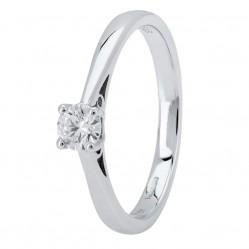 Platinum Four Claw Basket-Set Diamond Solitaire Ring (min 0.20ct) CR11066/PT950.20CT