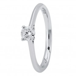 Platinum Four Claw Cathedral-Set Diamond Solitaire Ring (min 0.30ct) CR11067/PT950.30CT Q