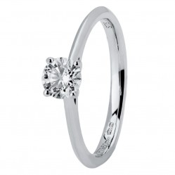 Platinum Four Claw Cathedral-Set Diamond Solitaire Ring (min 0.50ct) CR11067/PT950.50CT N