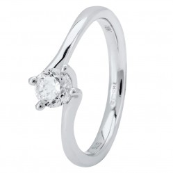 Platinum Four Claw Petite-Trellis Twist Diamond Solitaire Ring (min 0.50ct) CR11068/PT950.50CT