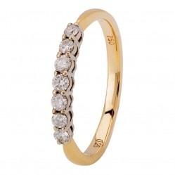 18ct Gold Seven Stone Basket-set Half Eternity Ring 18DR198/2C