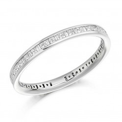 18ct White Gold 0.51ct Channel Set Multi-Cut Full Eternity Ring FET911 0.51CT