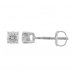 18ct White Gold 0.50ct Four Claw Diamond Stud Earrings SKE2534-50 18KW