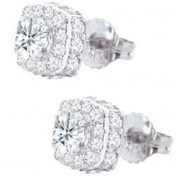 18ct White Gold Cluster 1.00ct Stud Earrings SKE8972-100