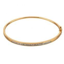 18ct Yellow Gold 1.00ct Channel Set Diamond Bangle 18DBA101Y