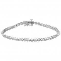 18ct White Gold 1.50ct Diamond Tennis Bracelet SKB15917-150