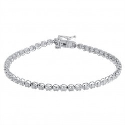 18ct White Gold Diamond Tennis Bracelet SKB15917-150