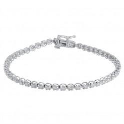 18ct White Gold Diamond Tennis Bracelet SKB15917-150