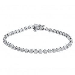18ct White Gold Diamond Tennis Bracelet SKB15917-300