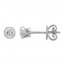 Mastercut Contemporary 18ct White Gold Single Stone 0.40ct Diamond Studs C2ER002 040W