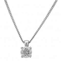 Mastercut Simplicity Four Claw 18ct White Gold 0.50ct Diamond Necklace C5PE001 050W