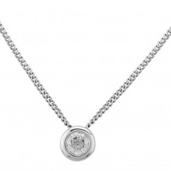 Mastercut Contemporary 18ct White Gold Rubover 0.20ct Diamond Necklace C2PE002 020W