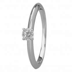 Mastercut Simplicity Four Claw 18ct White Gold Solitaire 0.17ct Diamond Ring C5RG001 015W M14308 (Size L)