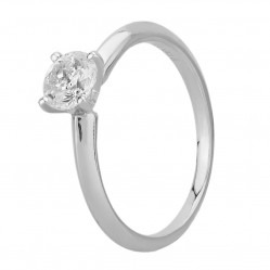Mastercut Simplicity Four Claw 18ct White Gold 0.75ct Solitaire Diamond Ring C5RG001 075W