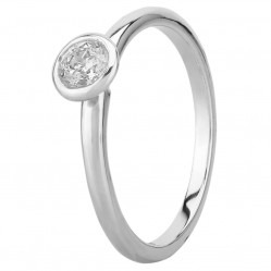 Mastercut Contemporary 18ct White Gold 0.30ct Bezel Set Solitaire Diamond Ring C2RG002 030W