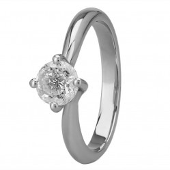 Mastercut Grace 18ct White Gold 0.75ct Solitaire Diamond Twist Ring C13RG001 075W