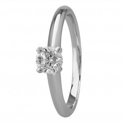 Mastercut Simplicity Four Claw 18ct White Gold 0.43ct Diamond Solitaire Ring C5RG001 040W M14505