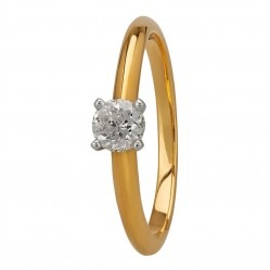 Mastercut Simplicity Four Claw 18ct Two Colour Gold 0.30ct Solitaire Diamond Ring C5RG001 030T