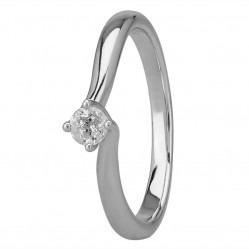 Mastercut Grace 18ct White Gold 0.15ct Four Claw Twist Diamond Solitaire Ring C13RG001 015W M15432