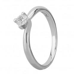 Mastercut Grace 18ct White Gold 0.25ct Solitaire Diamond Twist Ring C13RG001 025W