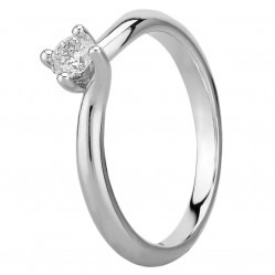 Mastercut Grace 18ct White Gold 0.20ct Solitaire Diamond Twist Ring C13RG001 020W