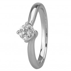 Mastercut Grace Platinum Twist 0.40ct Diamond Ring C13RG001 040P