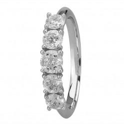 Mastercut Simplicity Four Claw 18ct White Gold 1.00ct Five Stone Diamond Ring C5RG003 100W