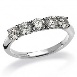 Mastercut Simplicity Four Claw 18ct White Gold 0.75ct Five Stone Diamond Ring C5RG005 075W