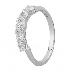 Mastercut Simplicity Four Claw 18ct White Gold 0.75ct Five Stone Diamond Ring C5RG003 075W