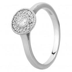 Mastercut Vintage 18ct White Gold 0.20ct Diamond Cluster Ring C6RG001 020W M15441