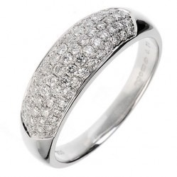 18ct White Gold Five Row Diamond Pave Cluster Ring 18DR204-W S