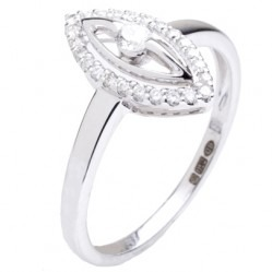 18ct White Gold 0.23ct Diamond Marquise Halo Ring 18DR352-W