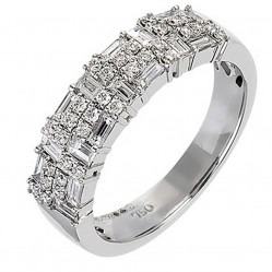 18ct White Gold Diamond Pave Cluster Ring 18DR362-W