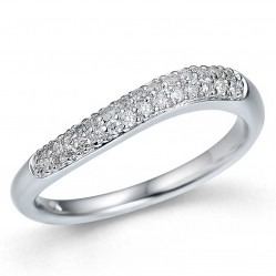 9ct White Gold Diamond Wave Ring 32.08736.001 M