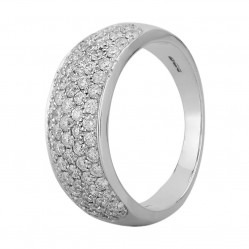 18ct White Gold 1.00ct Diamond Pave Ring SKR2910-100