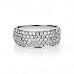 18ct White Gold 1.00ct Diamond Pave Ring SKR2910-100