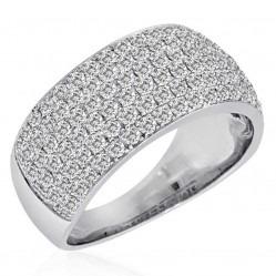 9ct White Gold Pave 2.00ct Ring SKR2910-200 9K