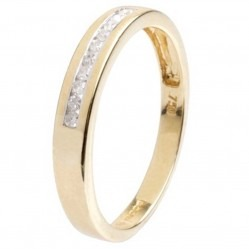 18ct Gold Channel Set 10 Diamond Half Eternity Ring 18DR133-Y L