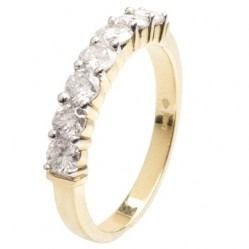 18ct Gold Seven Stone Diamond Half Eternity Ring 18DR153-Y Q